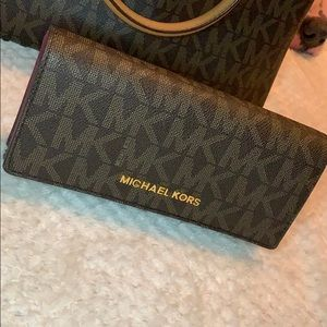 MK monogrammed wallet